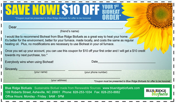 Blue Ridge Biofuels Discount Coupon