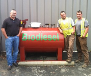 Bulk biodiesel fuel at Warren Wilson College