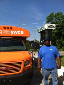 The local YWCA fueling up on locally made biodiesel