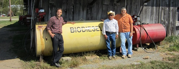 Biodiesel tank in Western North Carolina